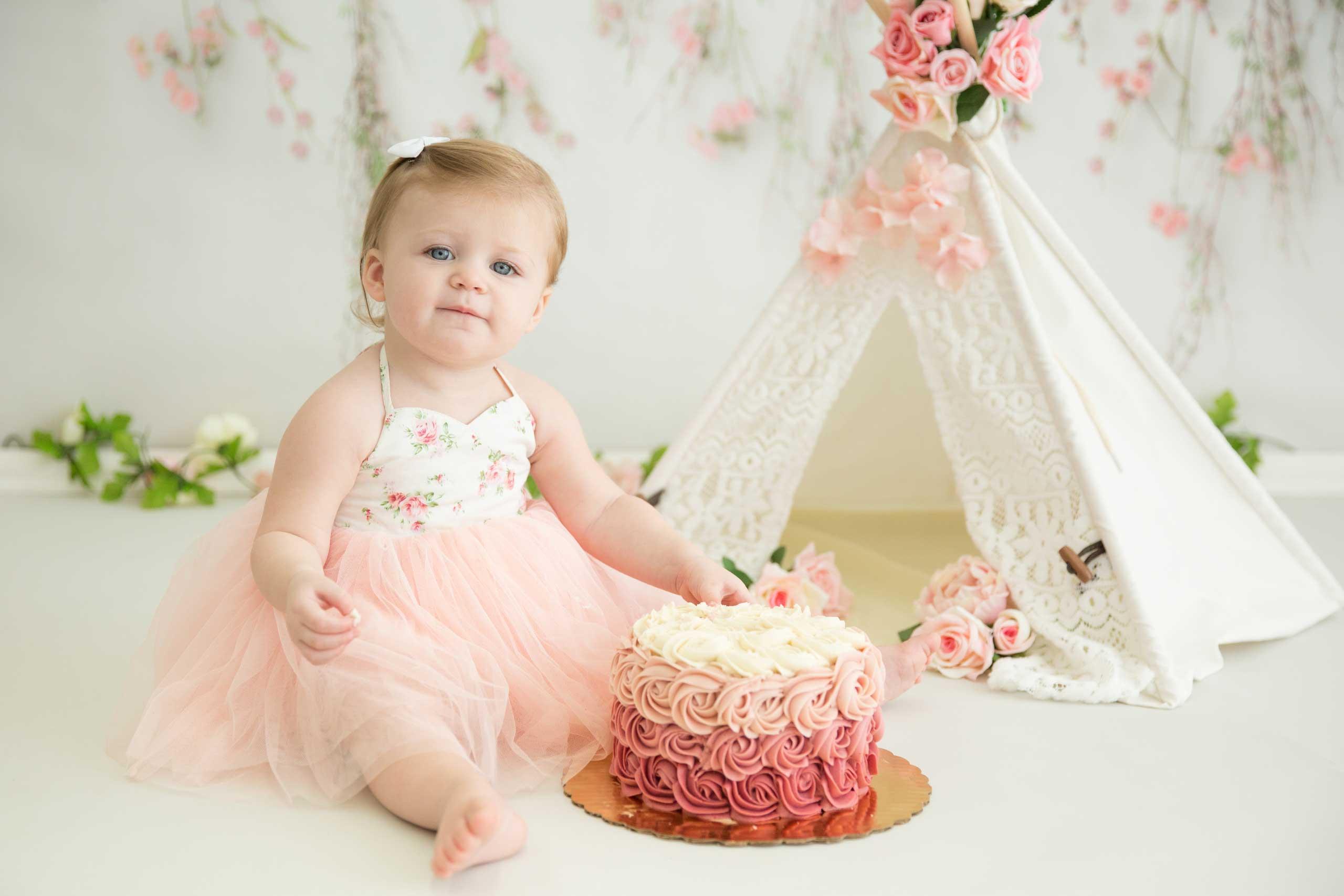 Cake Smash Baby Photographer Los Angeles Ramina Magid