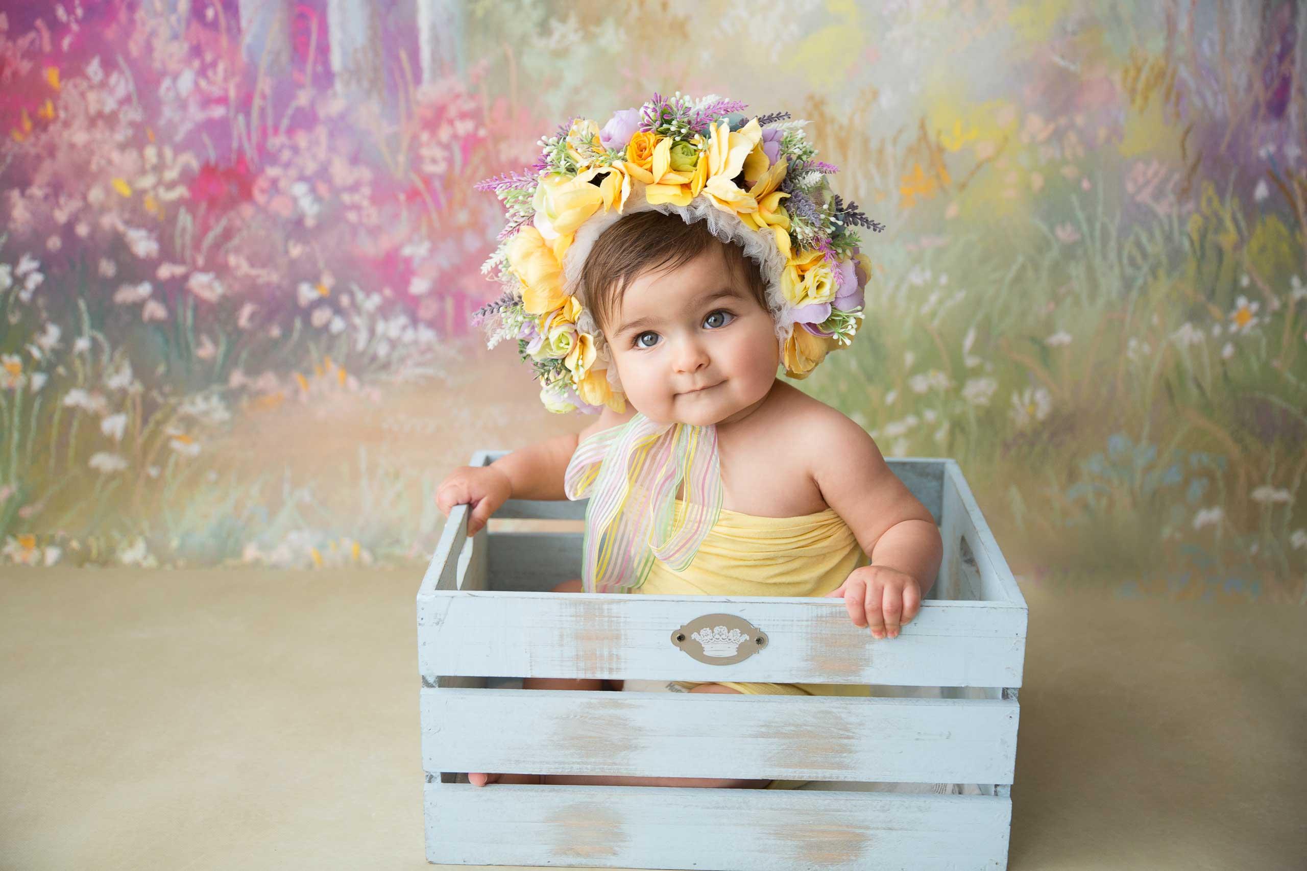 sitter baby photoshoot los angeles ramina magid