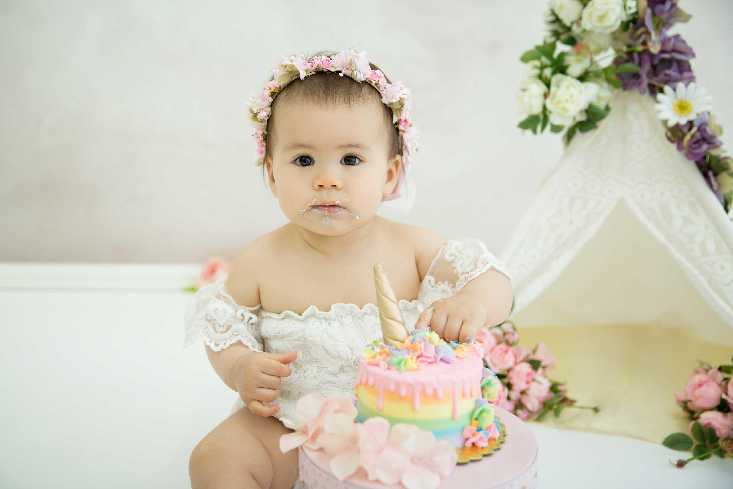 Cake Smash photography Los Angeles Ramina Magid