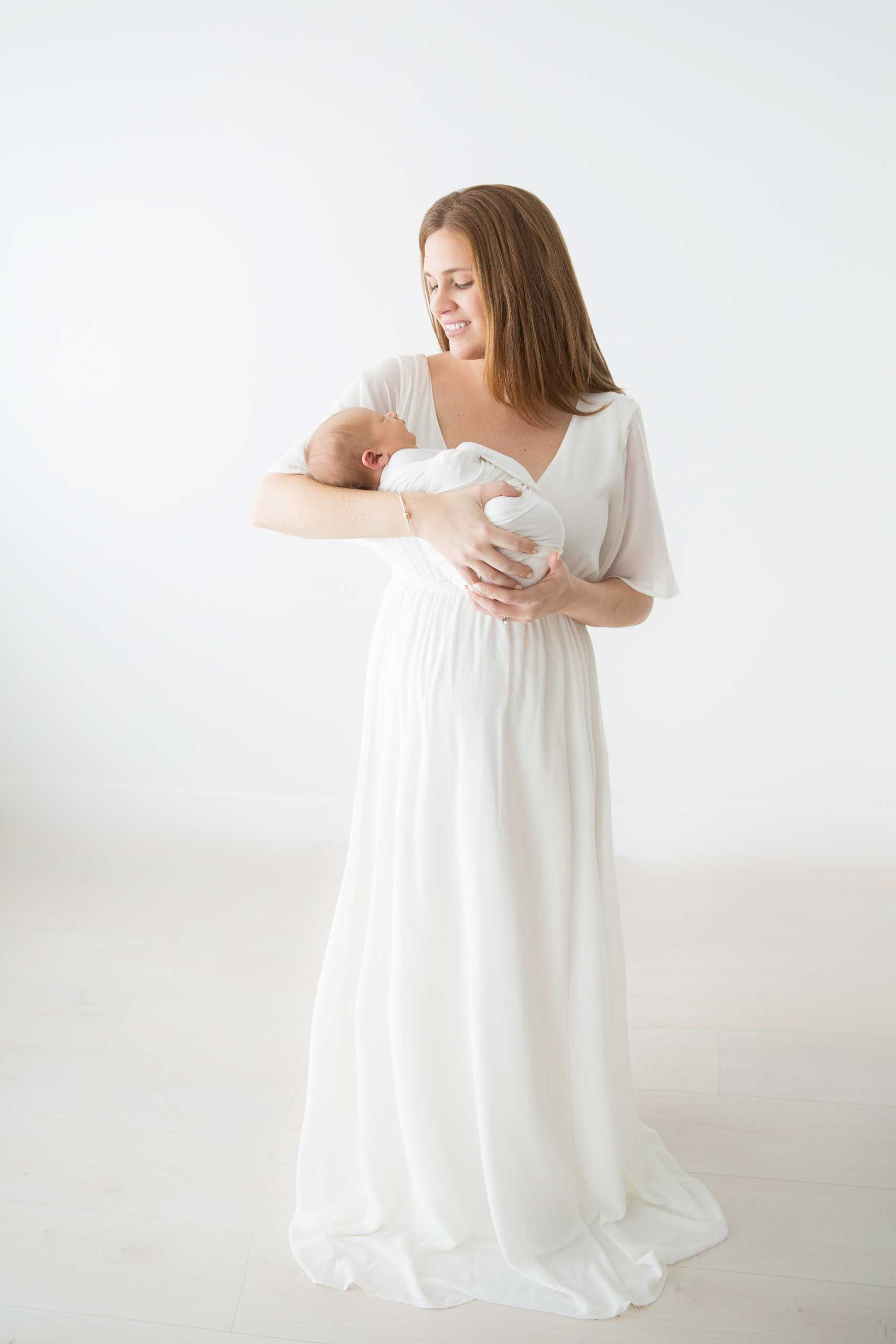 baby and mommy photograph taken in Los Angeles by Ramina Magid Photography