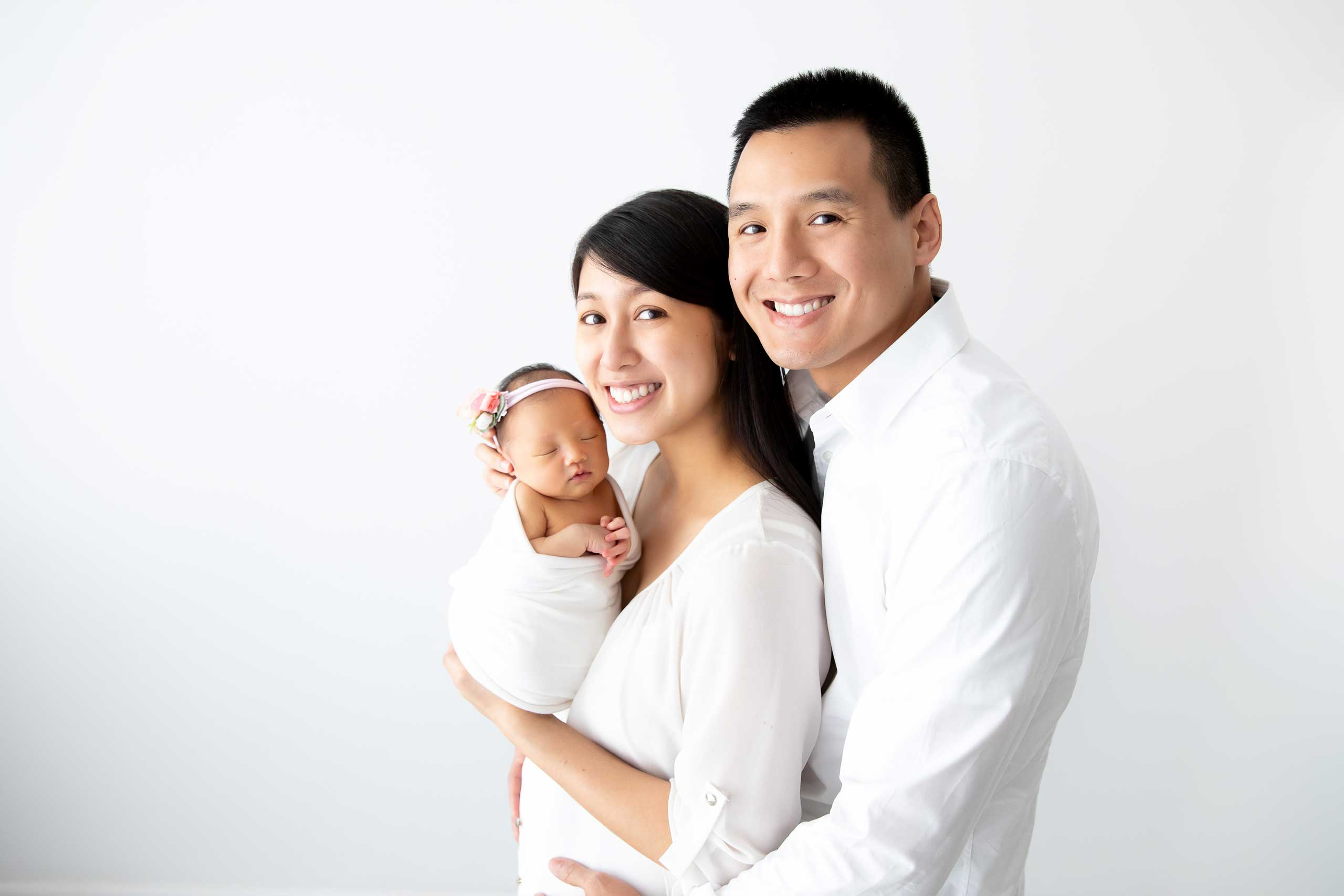 family baby newborn photograph taken in Los Angeles by Ramina Magid Photography