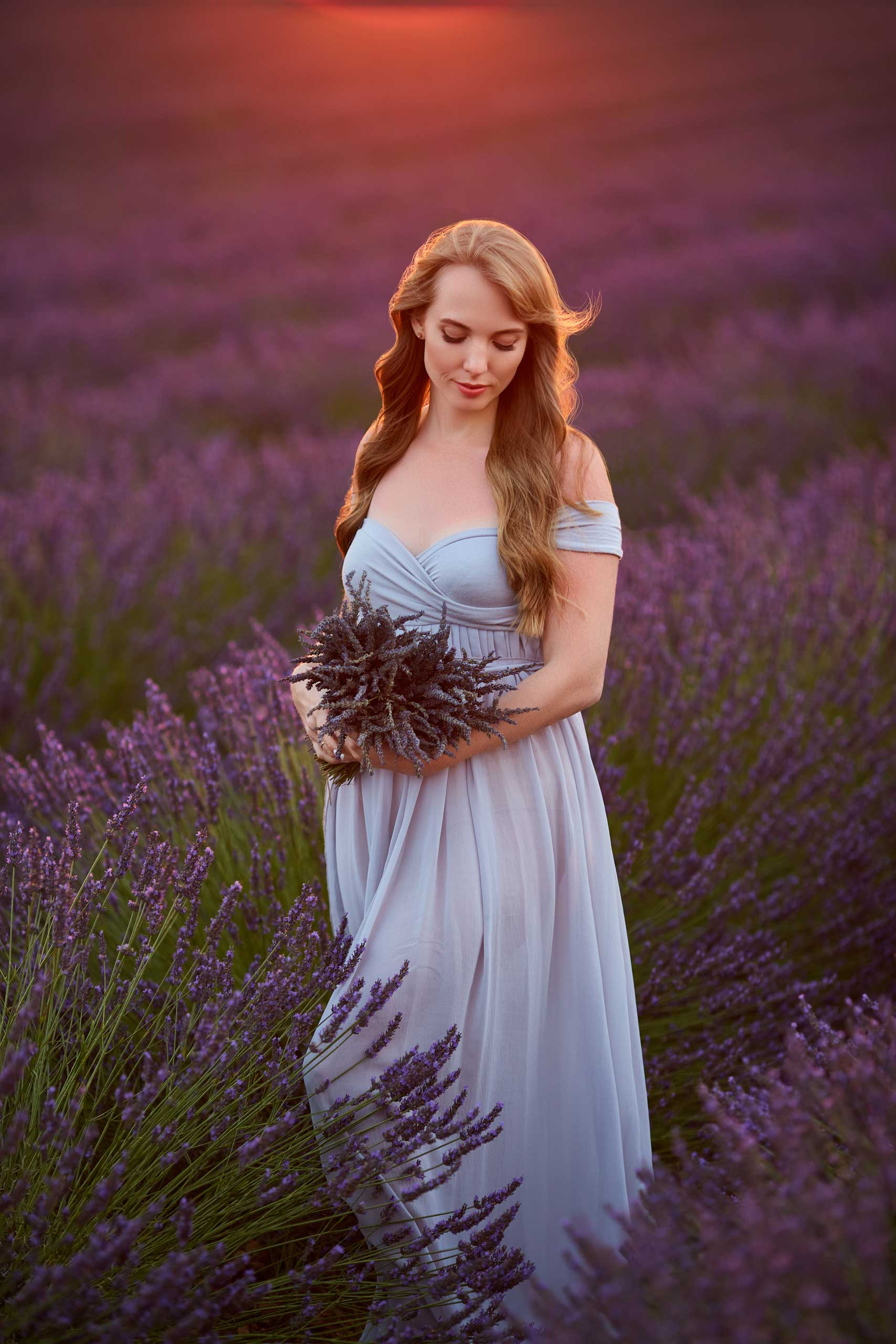 maternity photo session taken by Ramina Magid Photography in Provence