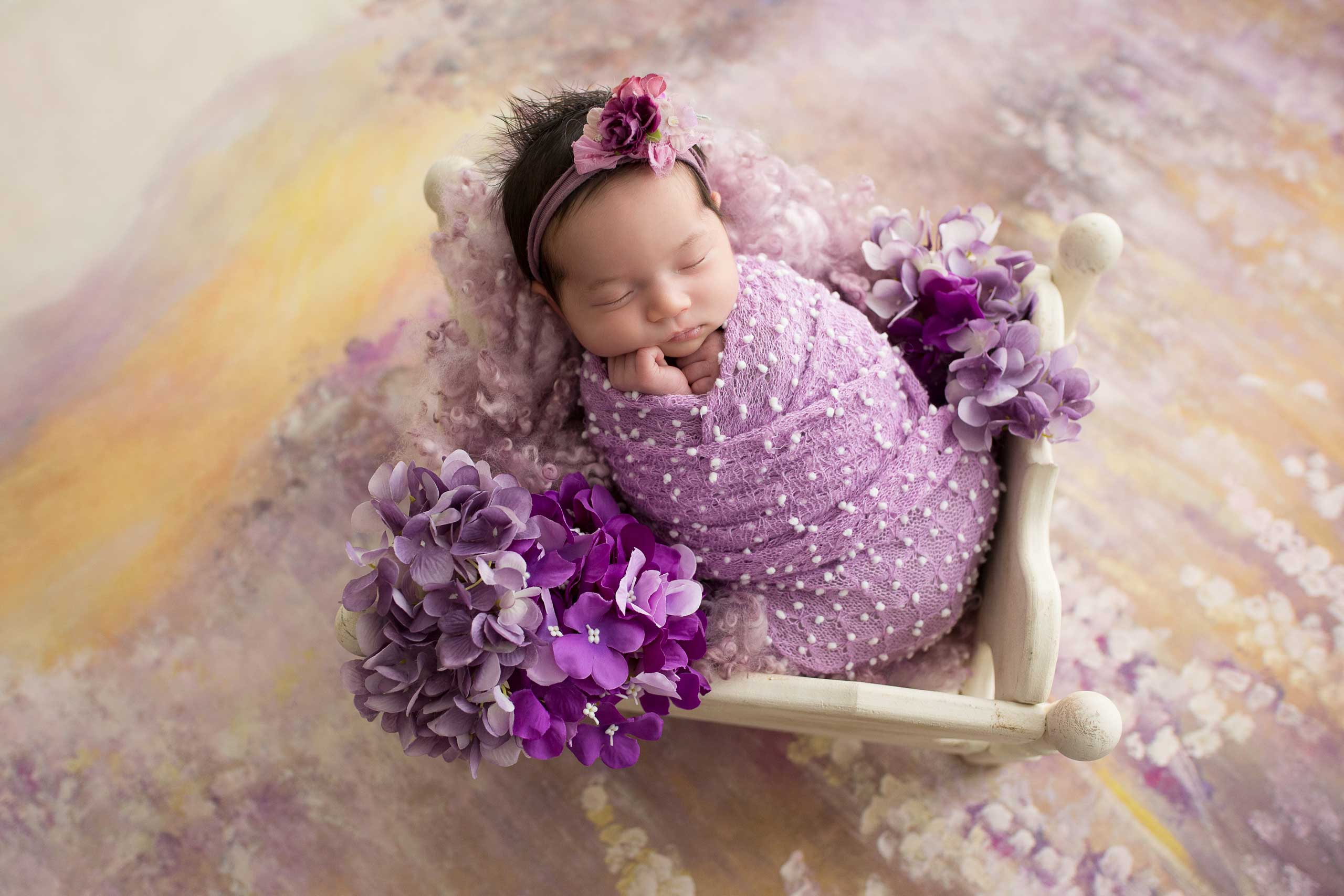 newborn photo session taken by Ramina Magid Photography in Los Angeles